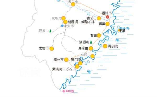 福建漳州东山地图