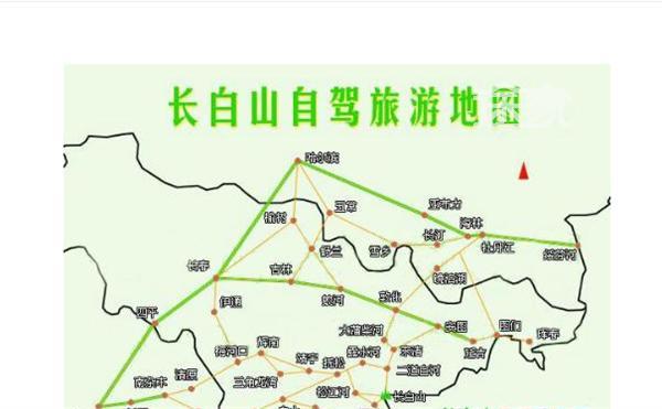长白山自驾旅游地图