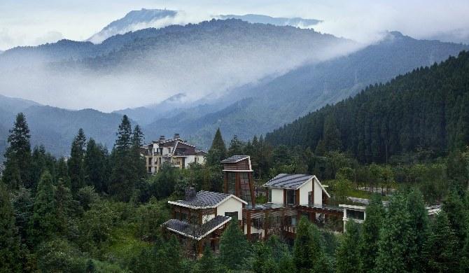 峨眉山峨眉山七里坪别墅温泉双床房-周边最大酒店私人的图片