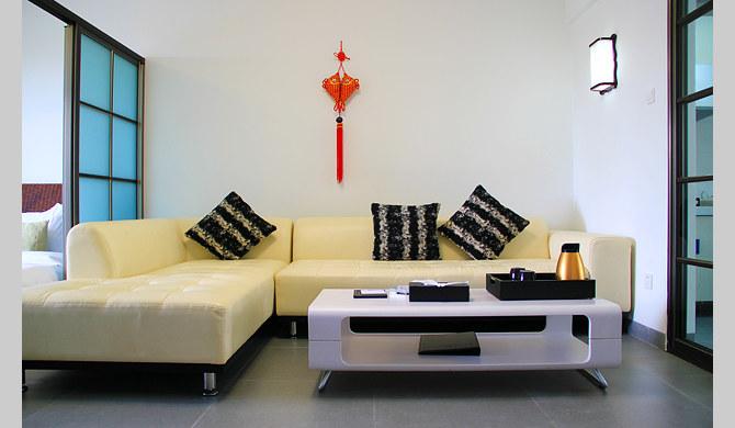 开放式户型营造浪漫家居 房间客厅和卧室互相连通,开放式的图片