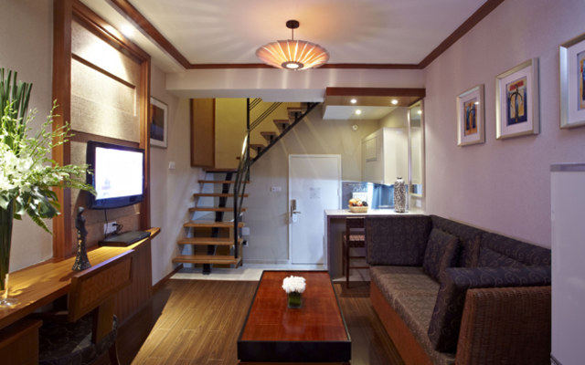 葵花豪华复式套房大床公寓图片